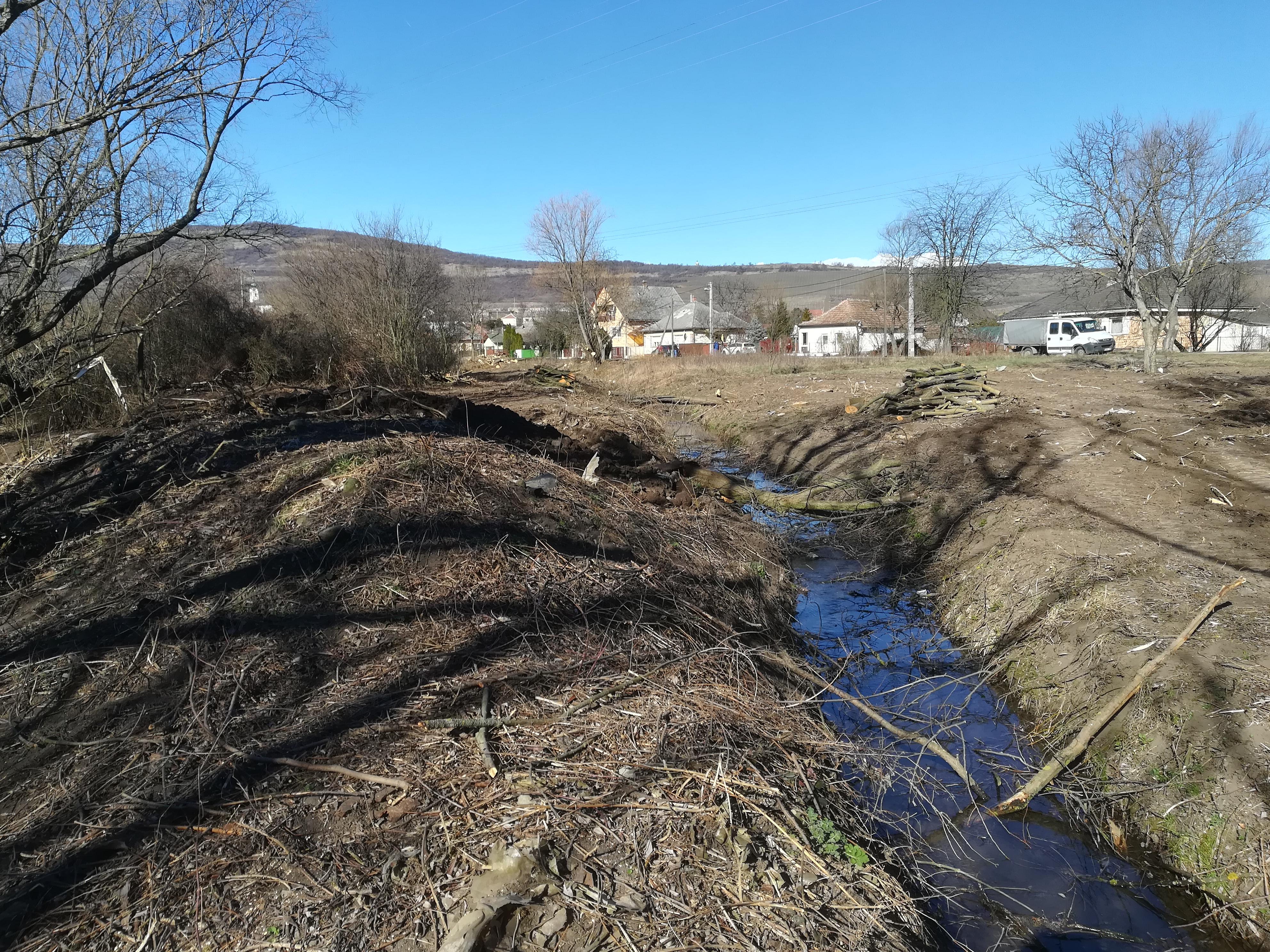 Elkezdődött a Pongor-patak felújítása