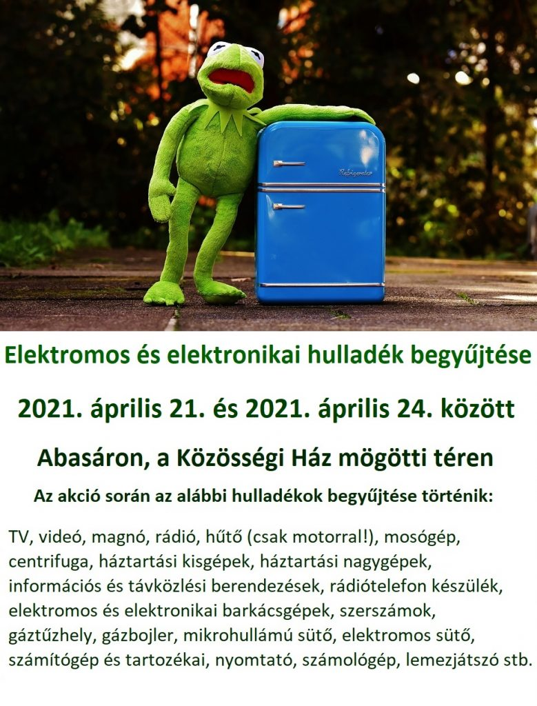 elektronikai hulladékgyűjtés 2021
